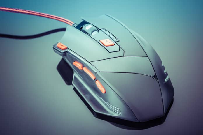 Sleek gaming mouse